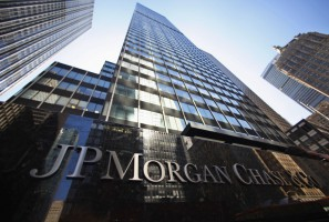 A sign outside the headquarters of JP Morgan Chase & Co in New York, in this September 19, 2013, file photo. JPMorgan Chase & Co is warning some 465,000 holders on December 5, 2013, of prepaid cash cards issued by the bank that their personal information may have been accessed by hackers who attacked its network in July. REUTERS/Mike Segar/Files (UNITED STATES - Tags: BUSINESS LOGO CRIME LAW)