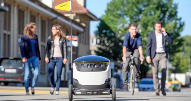 В Швейцарии тестируют доставку роботами (видео)