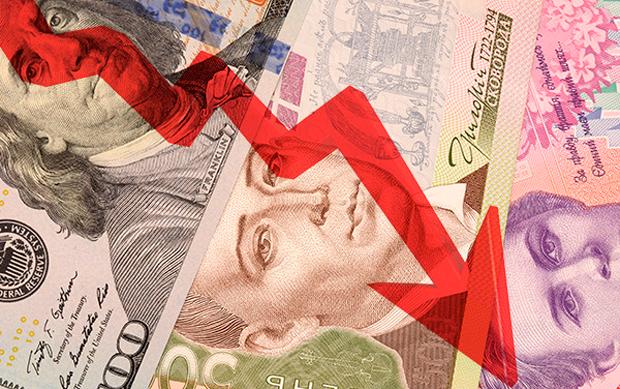 Гривна кдоллару упала вцене до25,64 грн/$