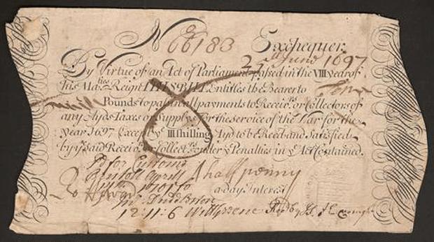 первые банкноты