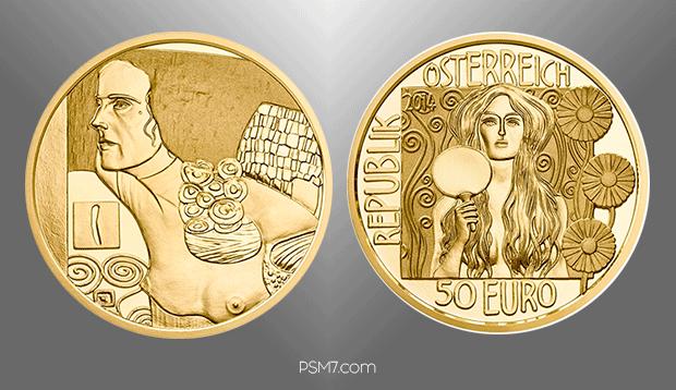 50-euro-gold-coin-gustav-klimt-judith-ii