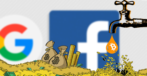 Биткоин обогнал Facebook и Google