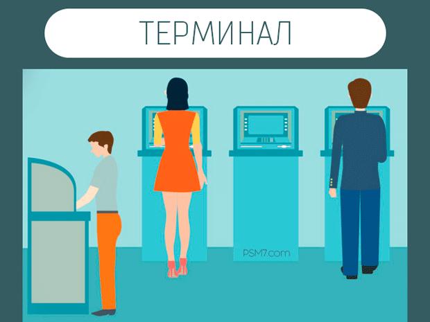 Как оплатить кредит через терминал