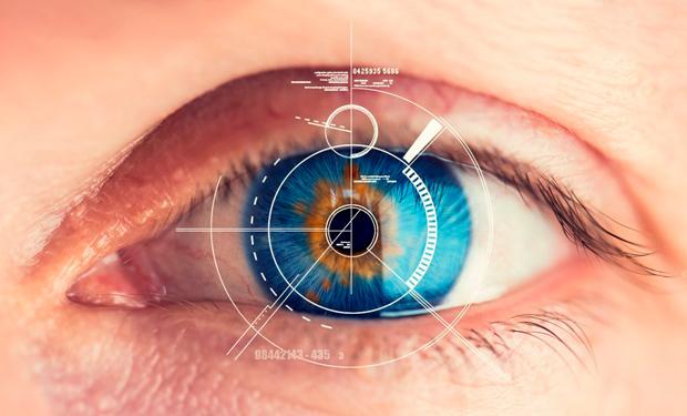 Сканирование глаз банкомат