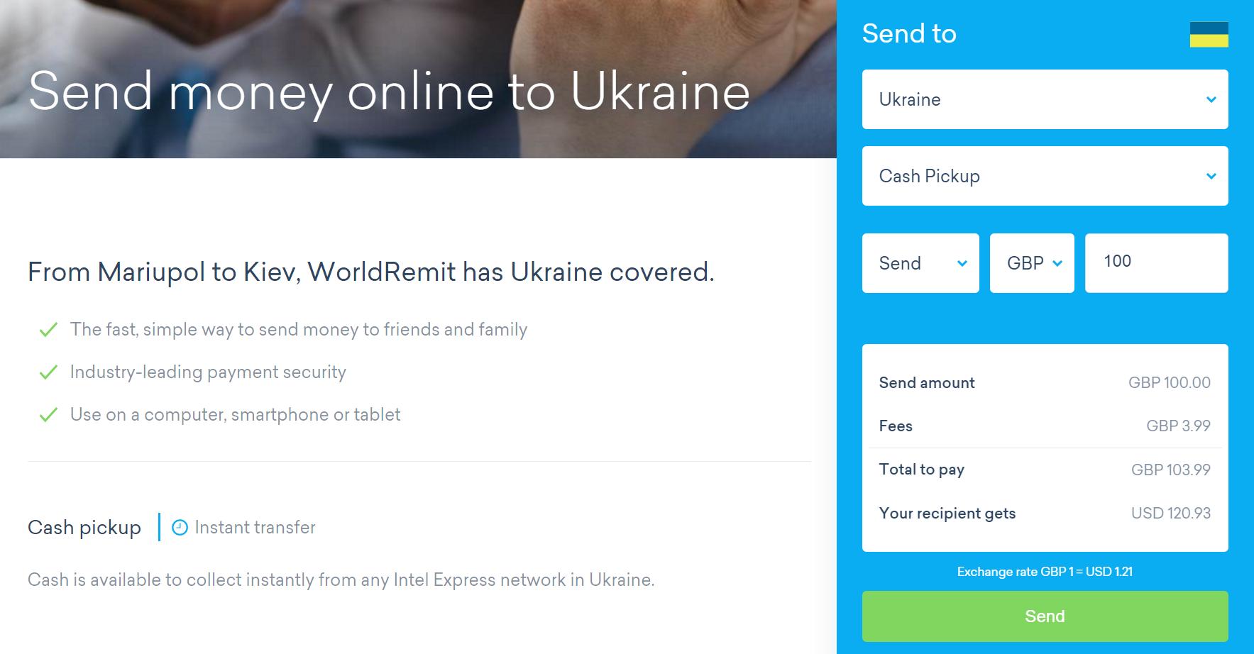 Украинцам стали доступны валютные  переводы WorldRemit