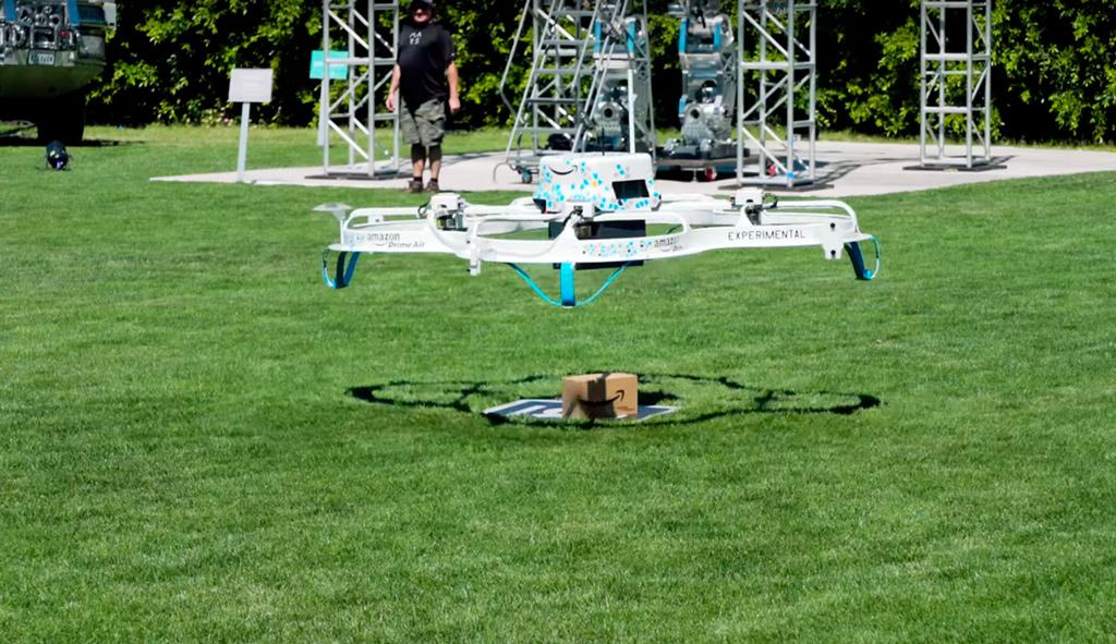 Amazon доставка дронами