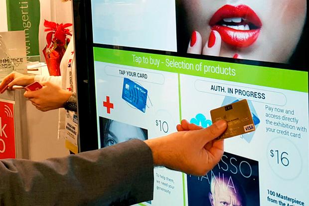 Бесконтактные платежные экраны