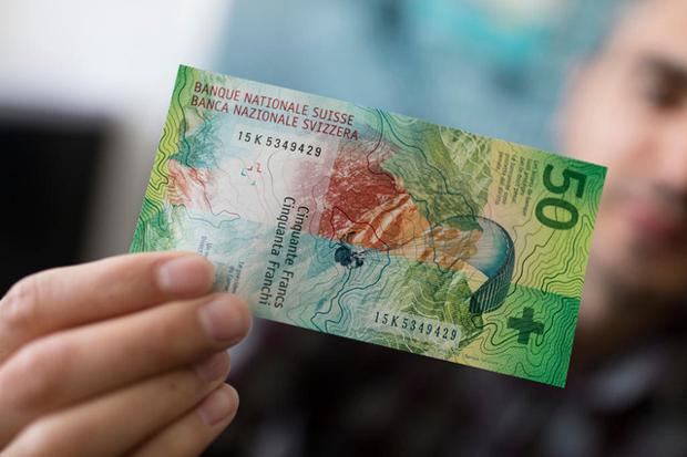 50 швейцарских франков стали банктоной года