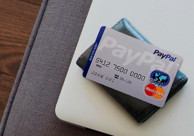 PayPal пластиковые карты