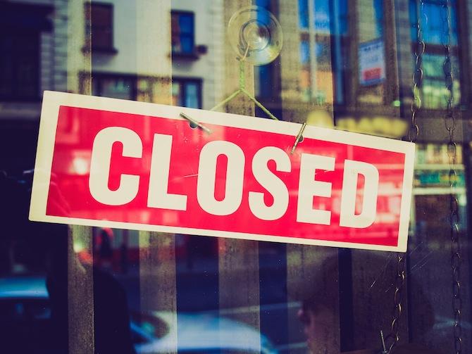 Закрытие банковских отделений