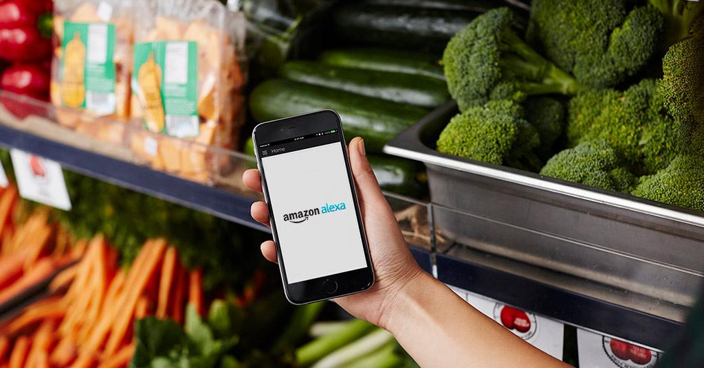 Amazon Alexa продукты питания