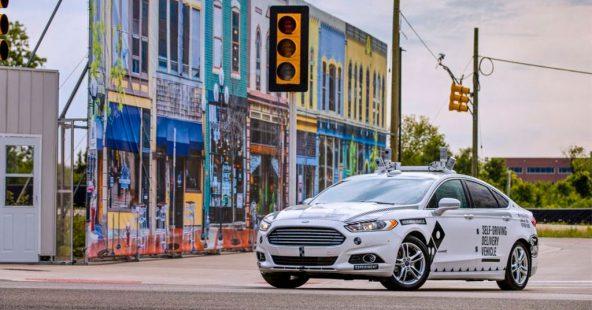 В США тестируют доставку на беспилотных автомобилях