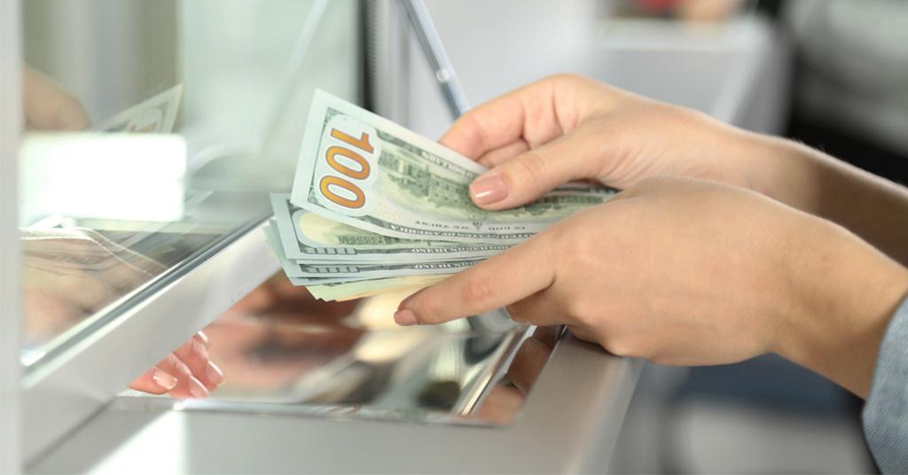 Выдача валюты вкладчикам
