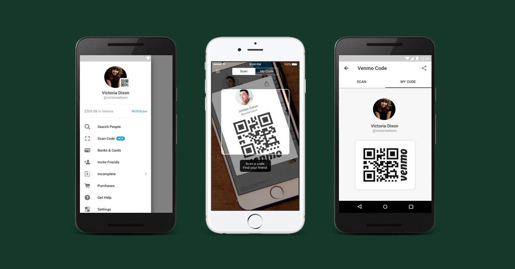 Список контактов заменят QR-коды: Venmo обновил мобильный кошелек