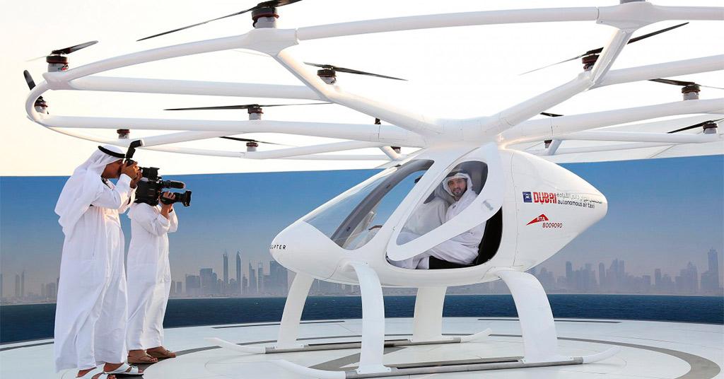 В Дубае протестировали первое беспилотное летающее такси (видео)