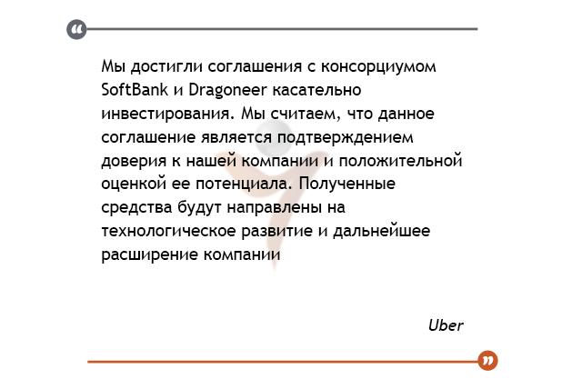 Uber реализует своею долю SoftBank