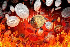 Стоимость ведущих криптовалют обвалилась