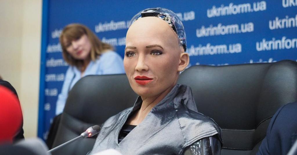 робот София в Украине 2018