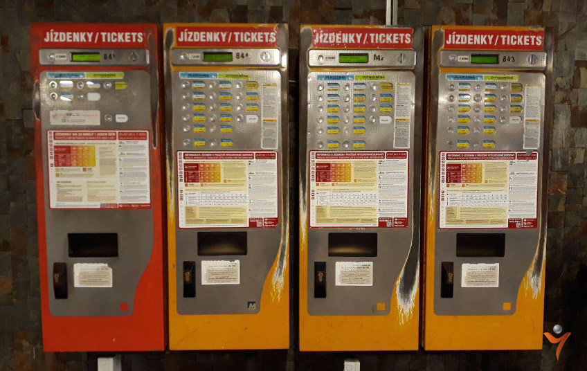 купить билет в метро в Праге