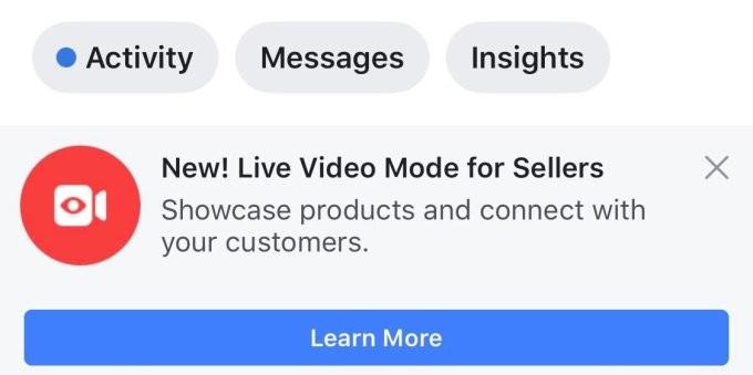 шопинг facebook