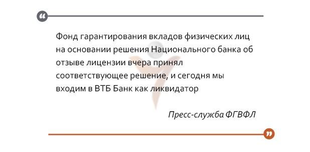нбу банк ликвидация втб фонд гарантирования фгвфл