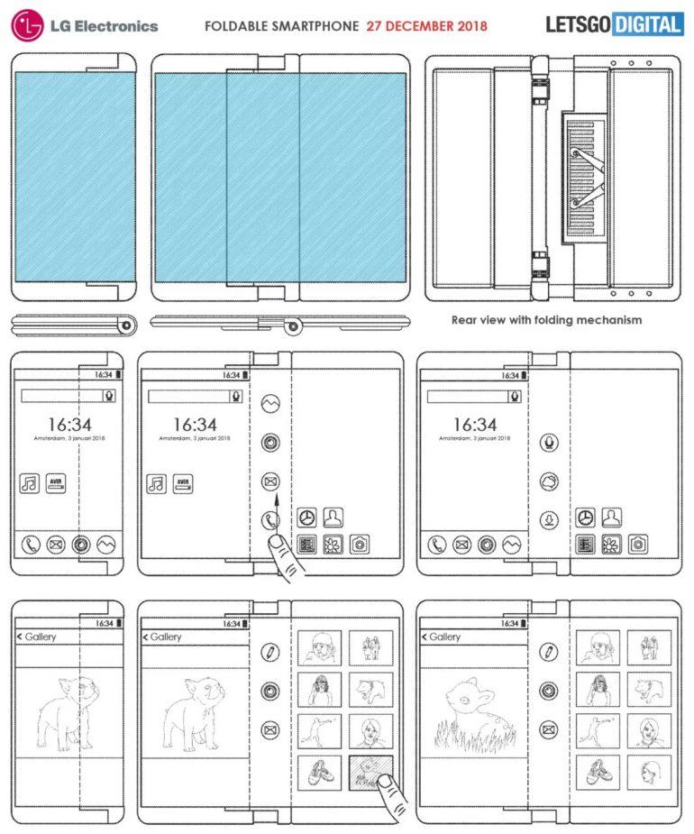 складной смартфон LG