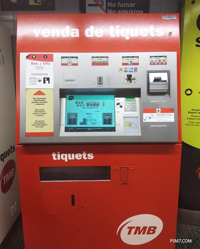 билетомат Барселона