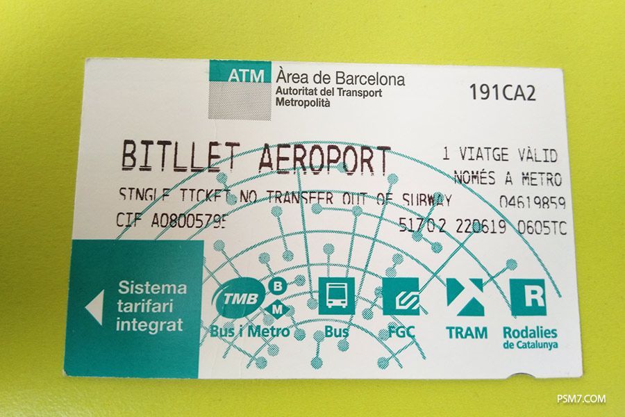 как добраться из аэропорта в центр Барселоны