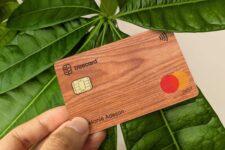В поддержку экологии: британский стартап представил первую в мире деревянную платежную карту